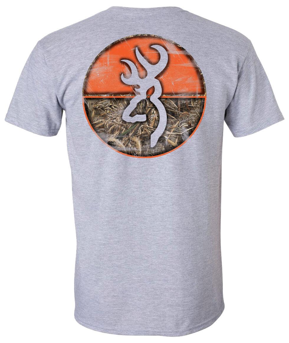 Browning Men's Realtree Max-5 Circle Short Sleeve Tee, Grey, hi-res