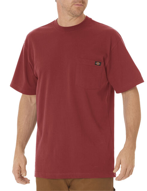 Dickies Men's Short Sleeve Heavyweight T-Shirt, Brick, hi-res