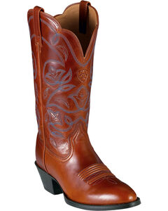 Ariat Heritage Western Cowgirl Boots - Medium Toe, Cognac, hi-res
