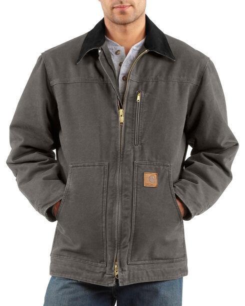 Carhartt Men's Grey Sandstone Ridge Coat - Tall , Grey, hi-res