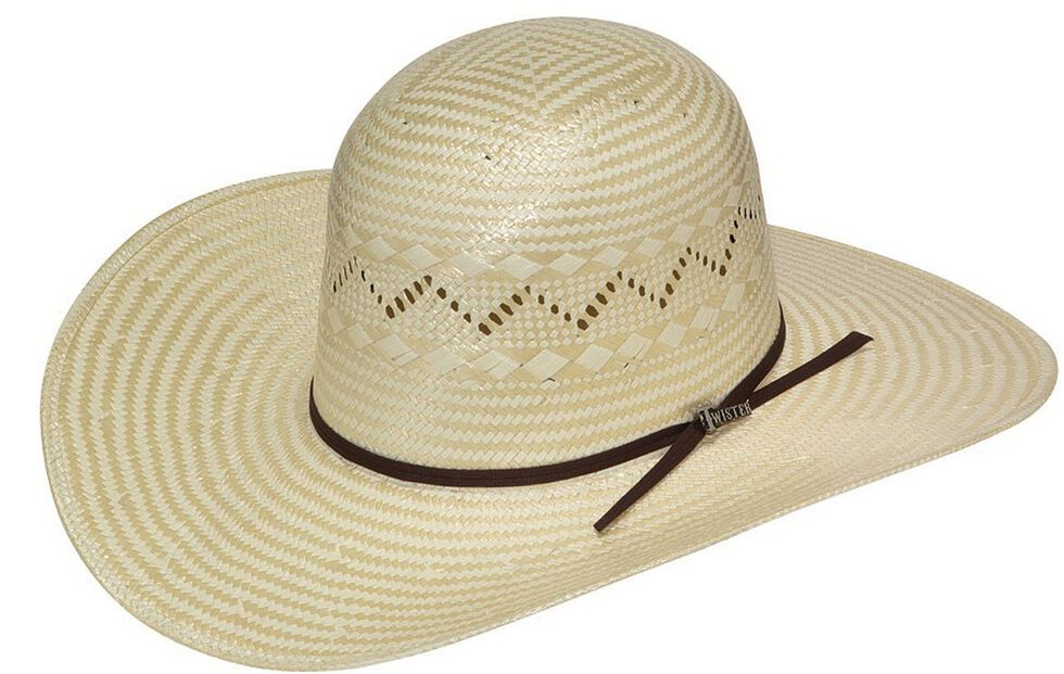 58c2f4885 Twister Open Crown Poly Rope Straw Cowboy Hat