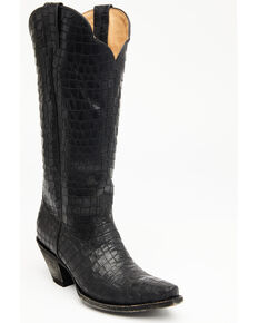 Idyllwind Women's Strut Black Western Boots - Snip Toe, Black, hi-res