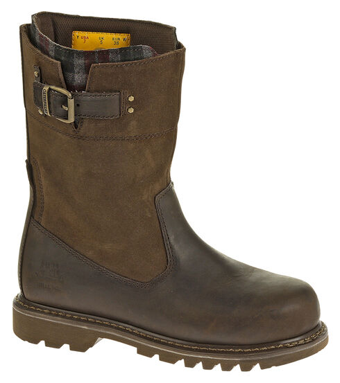 Caterpillar Women's Jenny Work Boots - Steel Toe, Bark, hi-res