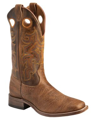 Boulet Stockman Cowboy Boots - Wide Square Toe, Crazyhorse, hi-res