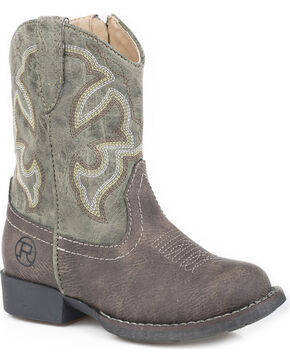 Roper Toddler Boys' Cody Classic Western Cowboy Boots - Round Toe, Brown, hi-res