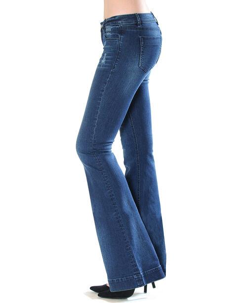 Grace in LA Women's Indigo Simple Trouser Jeans - Flare , Indigo, hi-res