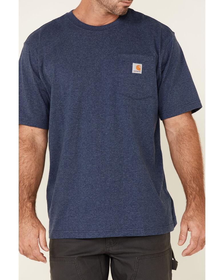 Carhartt Men's Workwear Pocket Short Sleeve Work T-Shirt, Dark Blue, hi-res