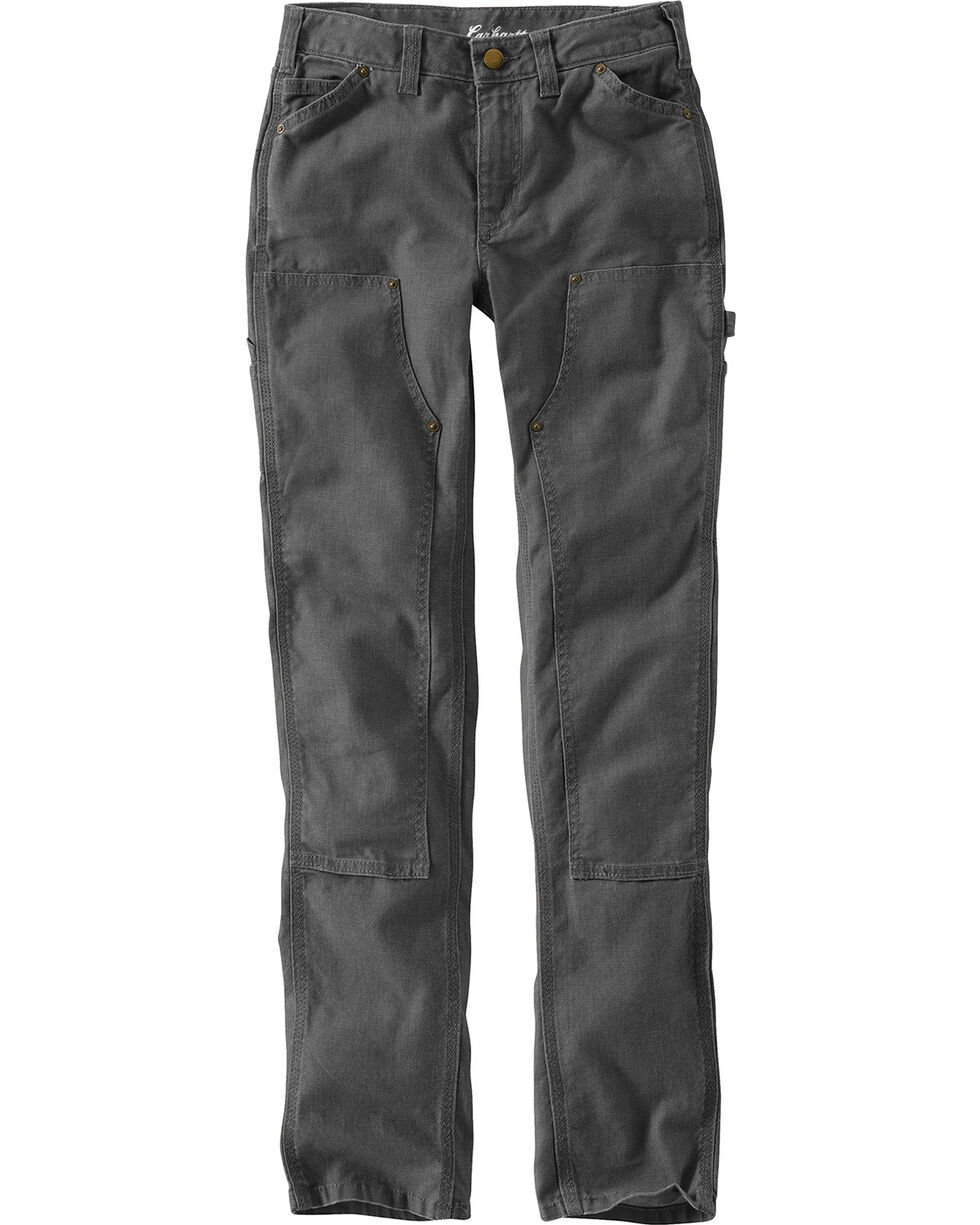Carhartt Women's Series 1889 Double Front Slim Fit Dungarees, Shadow Black, hi-res