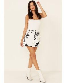 Shyanne Women's Tie-Dye Print Mini Skirt , White, hi-res