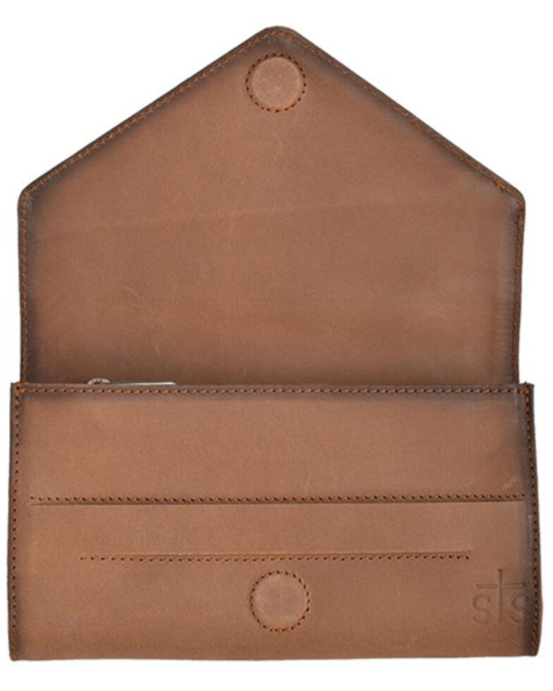 STS Ranchwear Women's Silo Wallet, Distressed Brown, hi-res