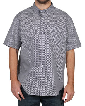Cody James Men's Pattern Short Sleeve Shirt , Purple, hi-res