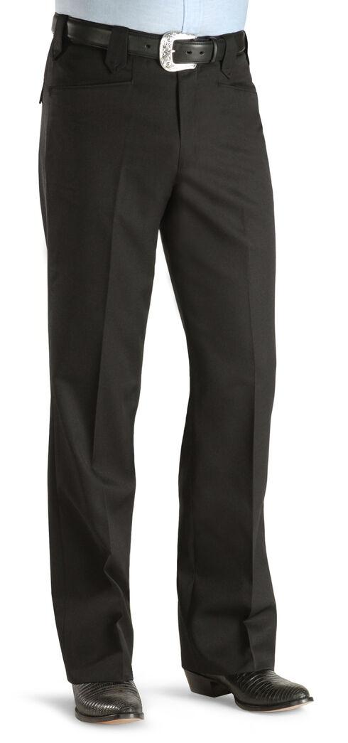 Circle S Men's Black Tuxedo Slacks, Black, hi-res