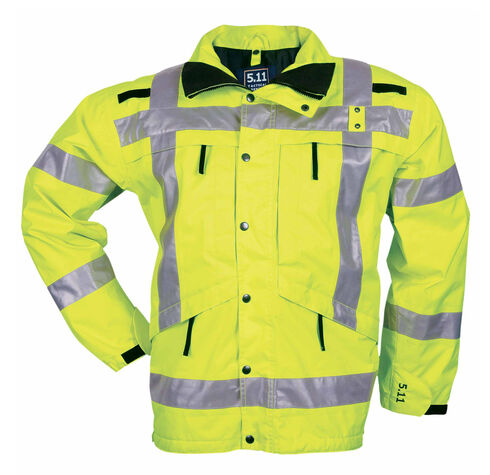 5.11 Tactical Men's High-Visibility Parka - 3XL-4XL, Yellow, hi-res