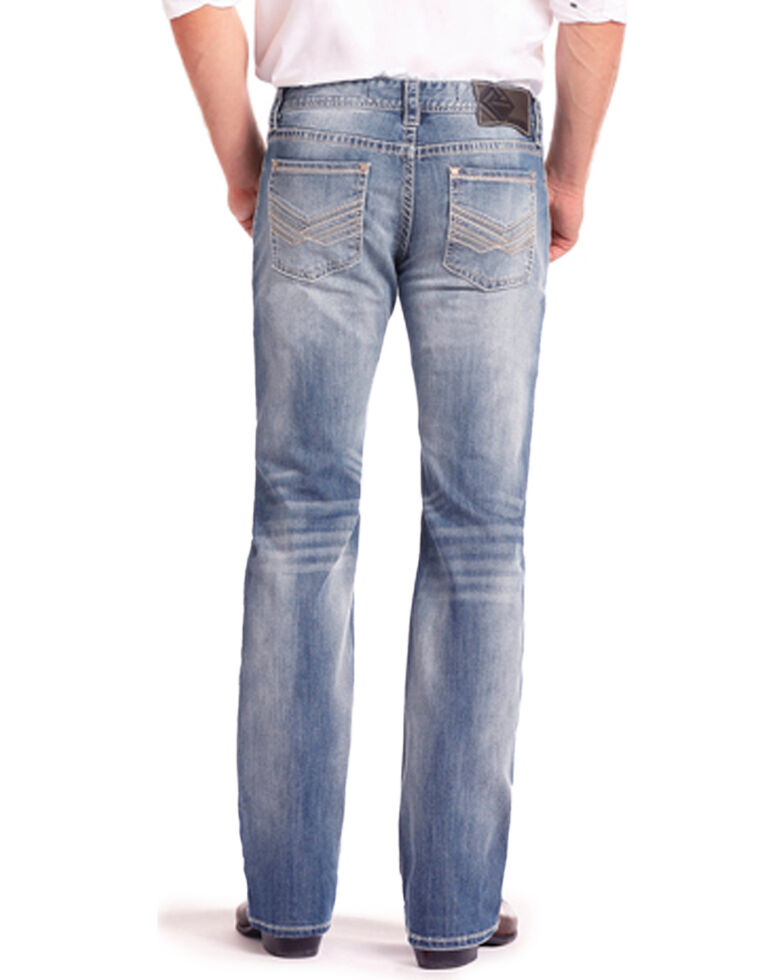 Rock & Roll Cowboy Men's Reflex Pistol Light Vintage Straight Jeans , Light Blue, hi-res