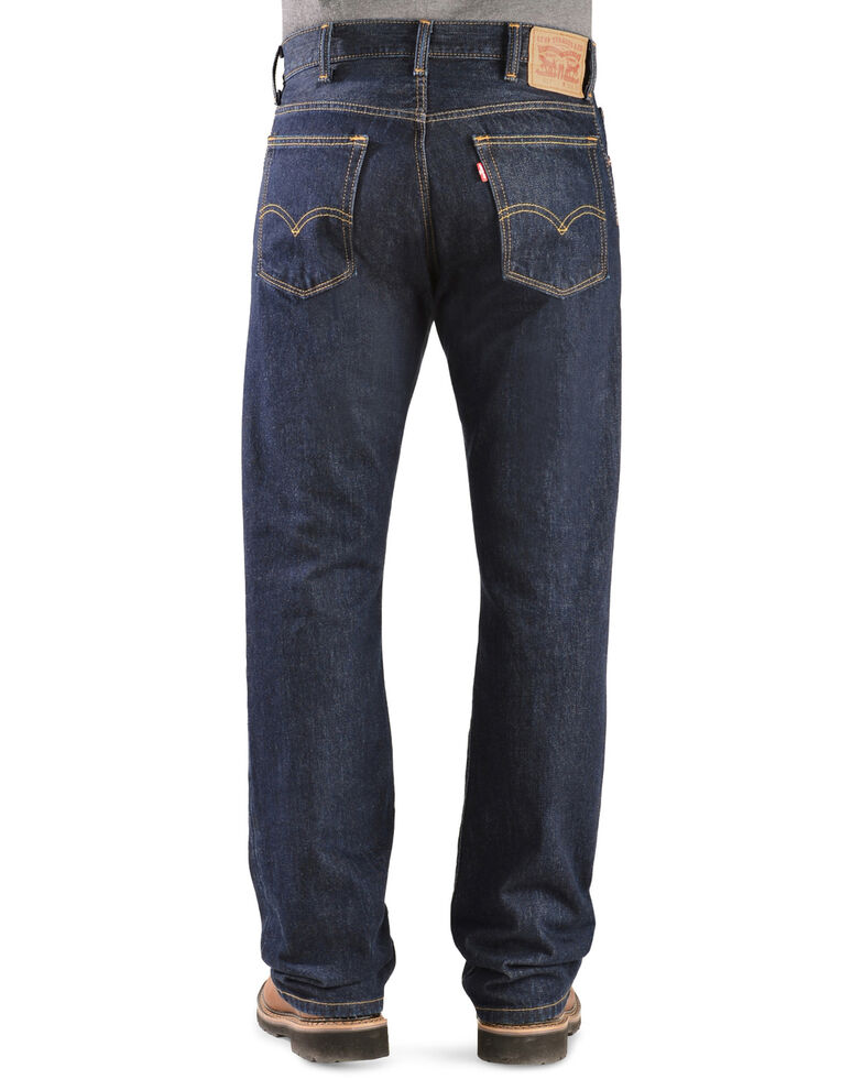 Levi's Men's 517 Heavyweight Rinsed Slim Boot Cut Jeans , Rinsed, hi-res