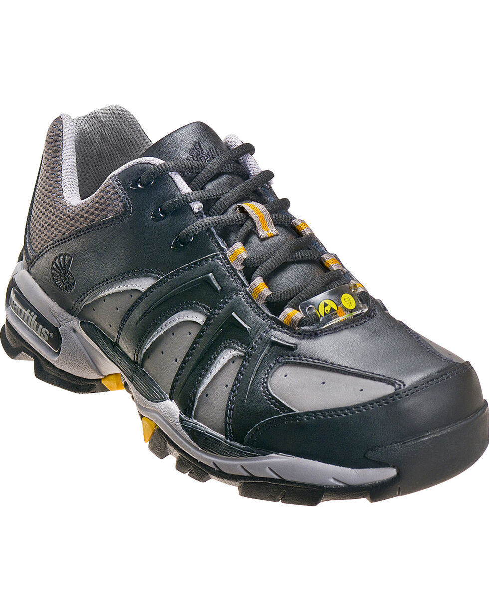 Nautilus Men's Black ESD Athletic Work Shoes - Steel Toe, Black, hi-res