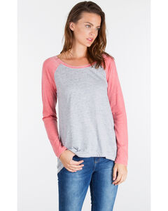 Z Supply Women's Grey Big Hit Baseball Tee , Hthr Grey, hi-res
