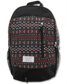 HOOey Rockstar Black Aztec Backpack, Black, hi-res