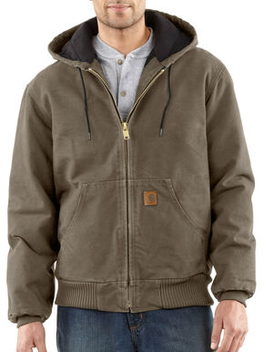 Carhartt Men's Sandstone Duck Active Jacket, Mushroom, hi-res