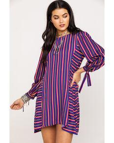 Rock & Roll Denim Women's Striped Dress , Multi, hi-res