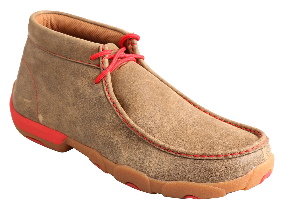 Twisted X Men's Brown and Red Driving Mocs , Bomber, hi-res