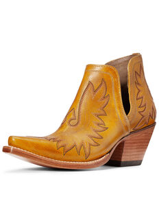 Ariat Women's Dixon Mustard Fashion Booties - Snip Toe, Yellow, hi-res