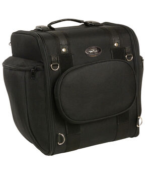 Milwaukee Leather Black Textile Motorcycle Sissy Bar Travel Bag , Black, hi-res
