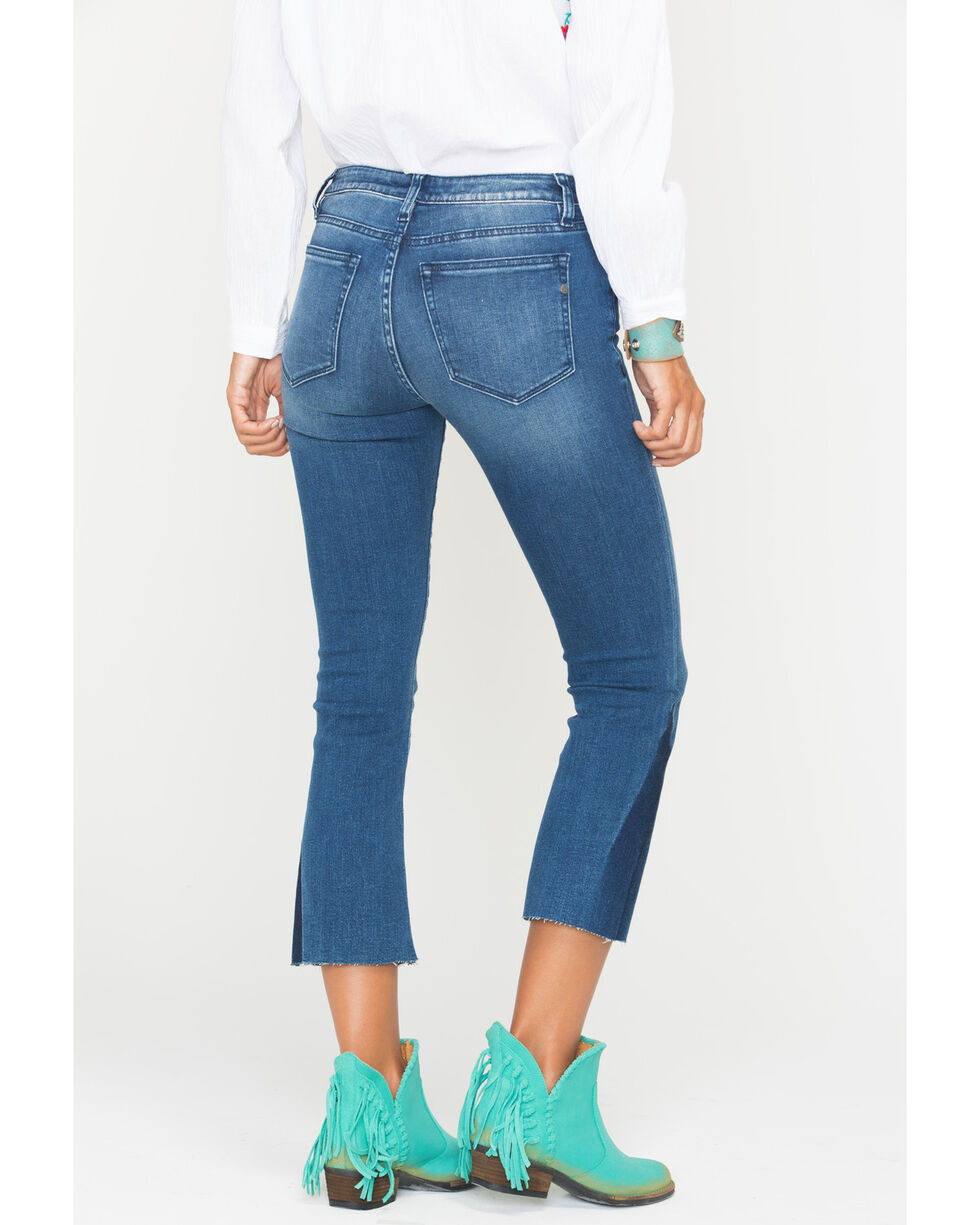Miss Me Women's Get On My Level Mid-Rise Crop Boot Cut Jeans , Indigo, hi-res