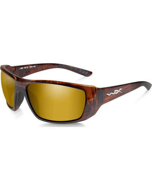 Wiley X Kobe Polarized Venice Gold Hickory Brown Sunglasses, Brown, hi-res