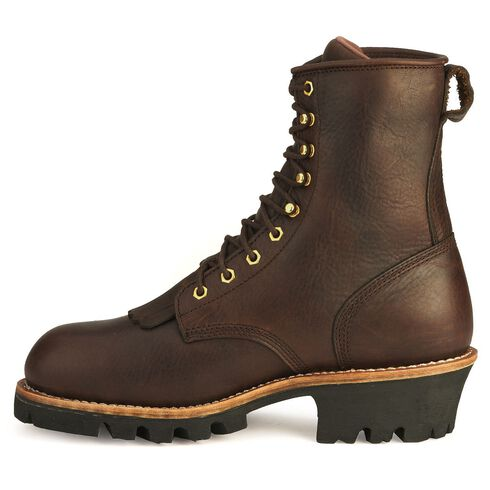 """Chippewa Waterproof Insulated 8"""" Logger Boots - Steel Toe, Briar, hi-res"""