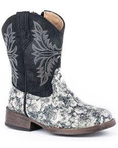 Roper Toddler Girls' Juliet Western Boots - Snip Toe, Brown, hi-res