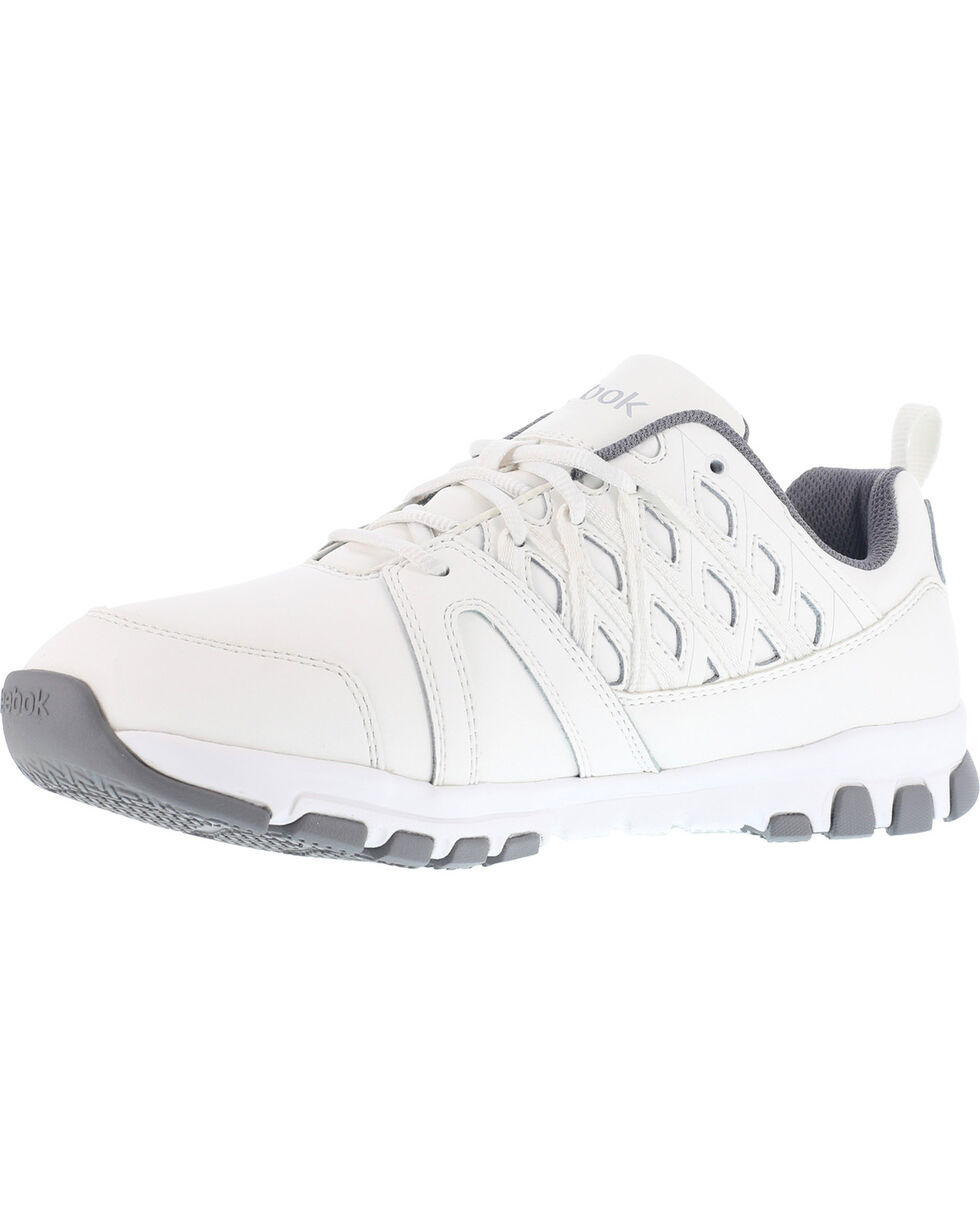Reebok Men's Sublite Athletic Oxford Work Shoes - Soft Toe , White, hi-res