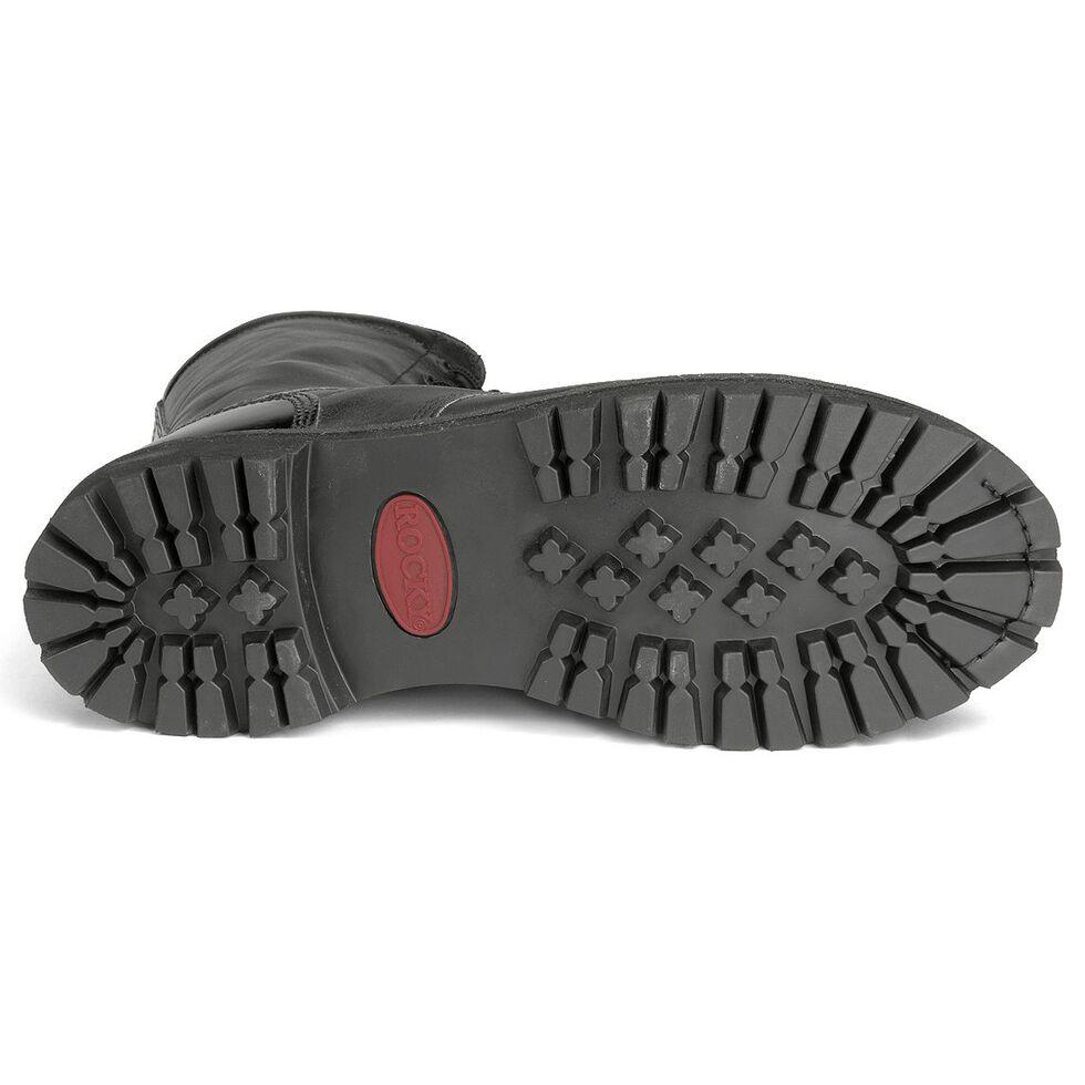 """Rocky 10"""" Zipper Jump Boots - Round Toe, Black, hi-res"""