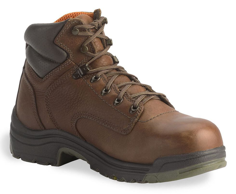 "Timberland Pro Coffee 6"" TiTAN Boots - Safety Toe, Coffee, hi-res"