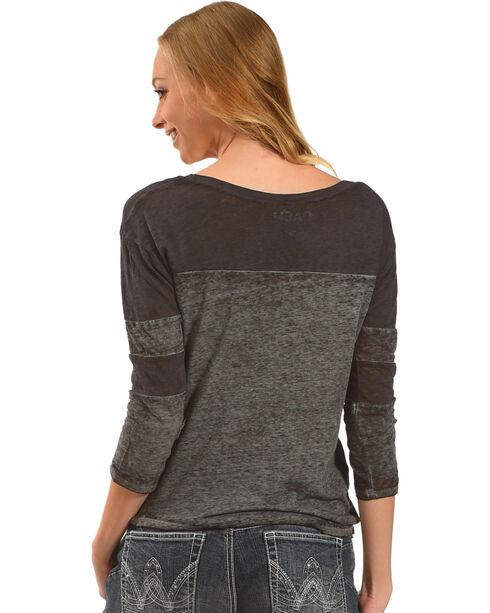 Merch Traffic Women's American Rebel Johnny Cash T-Shirt, Charcoal, hi-res