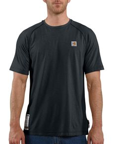 Carhartt Men's Flame Resistant Force Short Sleeve Work T-Shirt - Big & Tall, Navy, hi-res