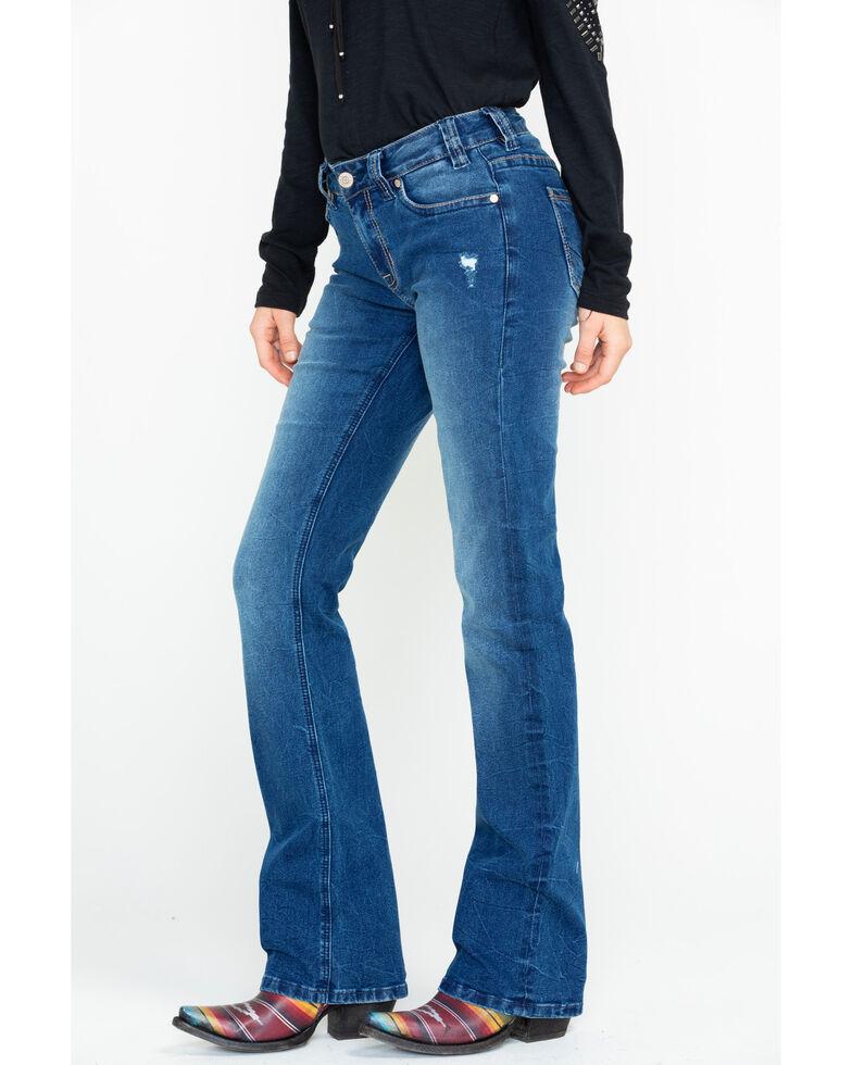 Rock & Roll Cowgirl Women's Criss Cross Bootcut Jeans , , hi-res