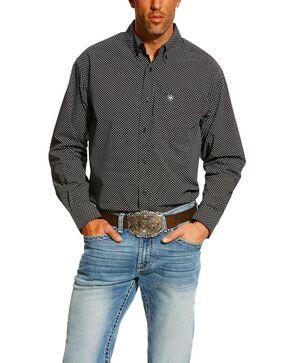 Ariat Men's Carolla Print Long Sleeve Western Shirt - Tall , Navy, hi-res
