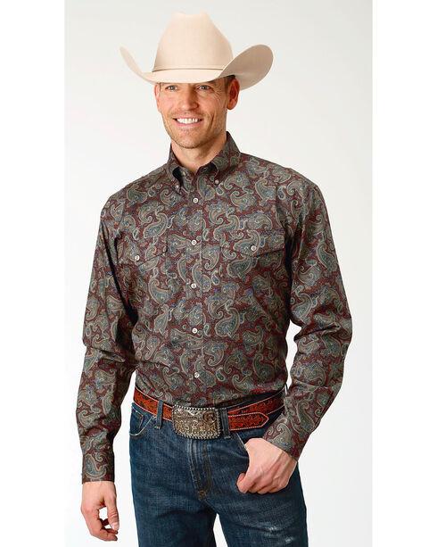 Roper Men's Paisley Print Long Sleeve Button Down Shirt - Big & Tall, Multi, hi-res