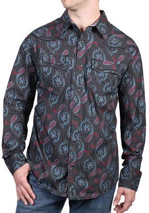 Moonshine Spirit Men's Lafayette Paisley Long Sleeve Shirt, Black, hi-res