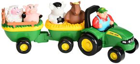 John Deere Animal Sounds Hay Ride Toy Set, Green, hi-res