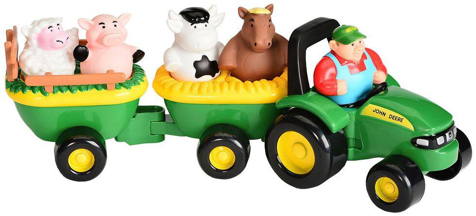 John Deere Animal Sounds Hay Ride Toy Set, Green, hi-res