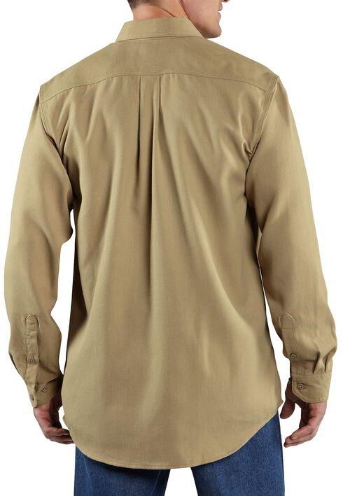 Carhartt Flame Resistant Work Shirt, Khaki, hi-res
