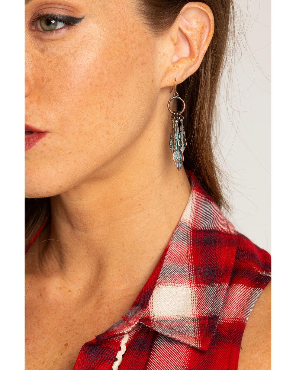 Shyanne Women's La Rosita Multi-Feather Earrings, Turquoise, hi-res