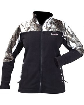 Rocky Women's Realtree Camo Fleece Jacket, Black, hi-res