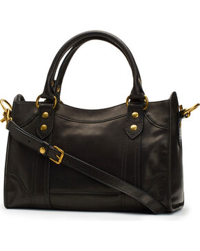 Frye Women's Melissa Satchel, Black, hi-res