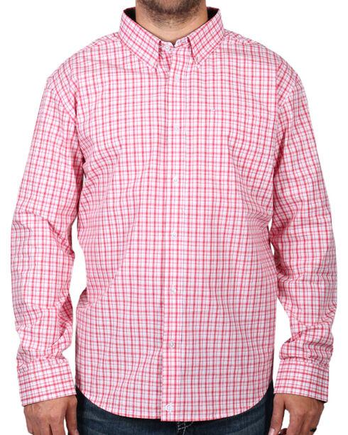 Cody James Men's Check Patterned Long Sleeve Shirt - Big and Tall , Peach, hi-res