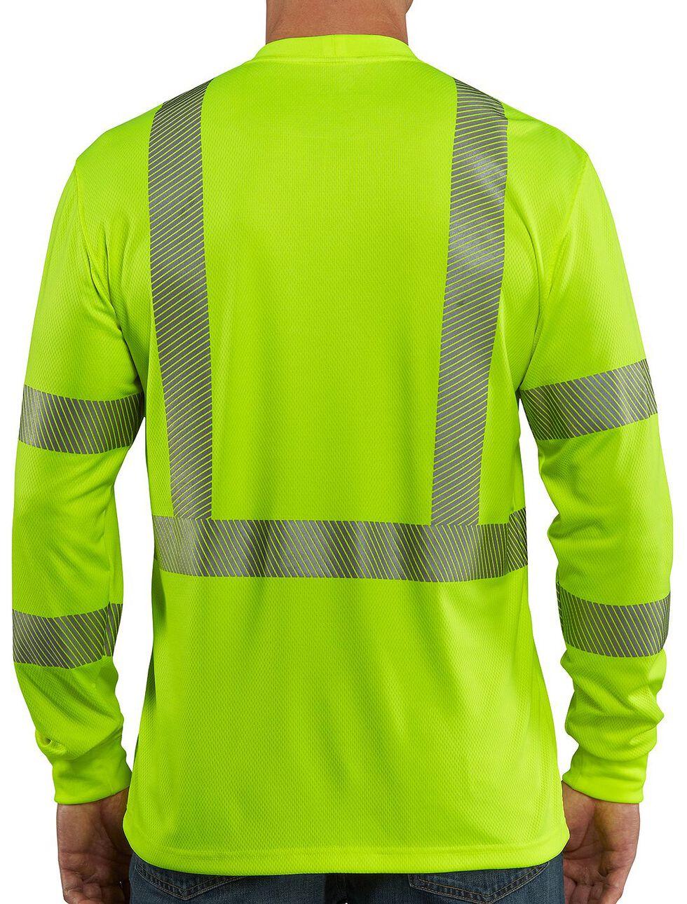 Carhartt Force High-Visibilty Class 3 Long Sleeve T-Shirt - Big & Tall, Lime, hi-res