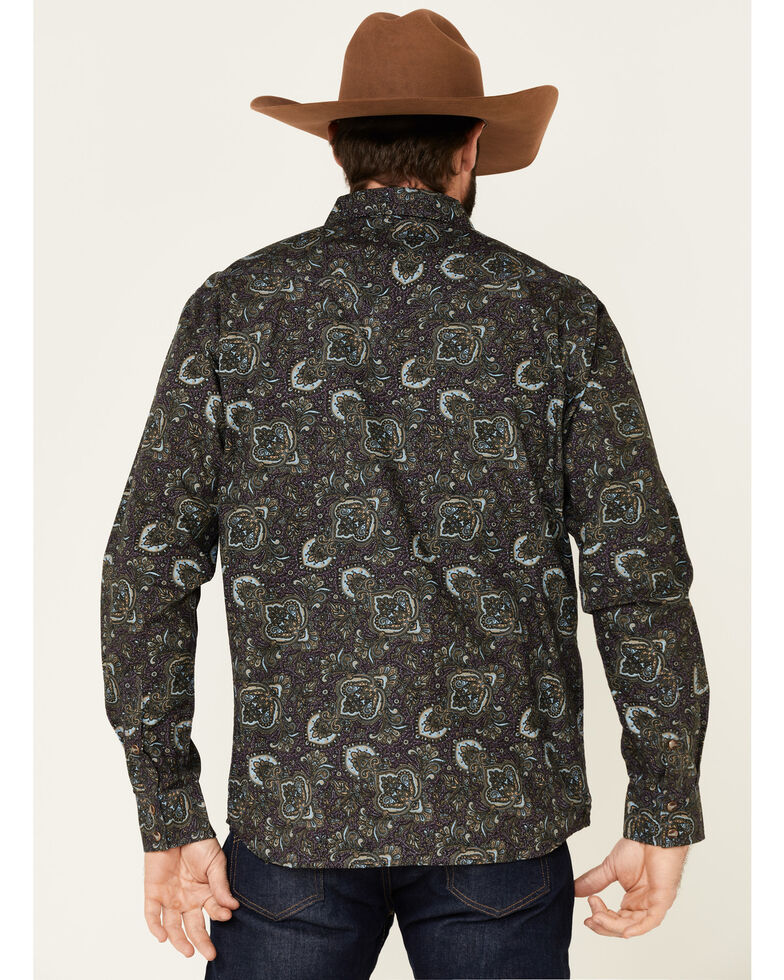 Moonshine Spirit Men's Legacy Large Paisley Print Long Sleeve Western Shirt , Multi, hi-res