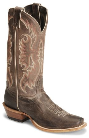 "Nocona Men's  13"" Legacy Calf Boots - Square Toe, Chocolate, hi-res"